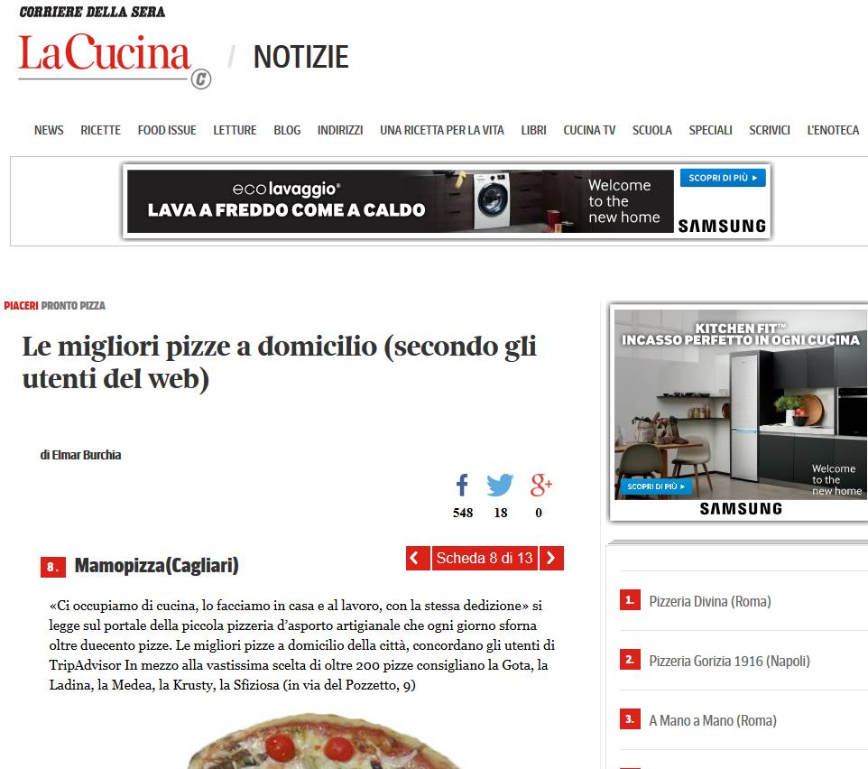 Disegno la cucina del corriere : La Mamo Pizza di Cagliari tra le migliori pizzerie d'asporto d ...