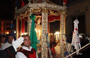 Il rientro di Sant'Efisio in città (foto Alessandro Pigliacampo)
