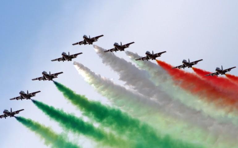 Αποτέλεσμα εικόνας για Frecce Tricolore nel cielo di Roma
