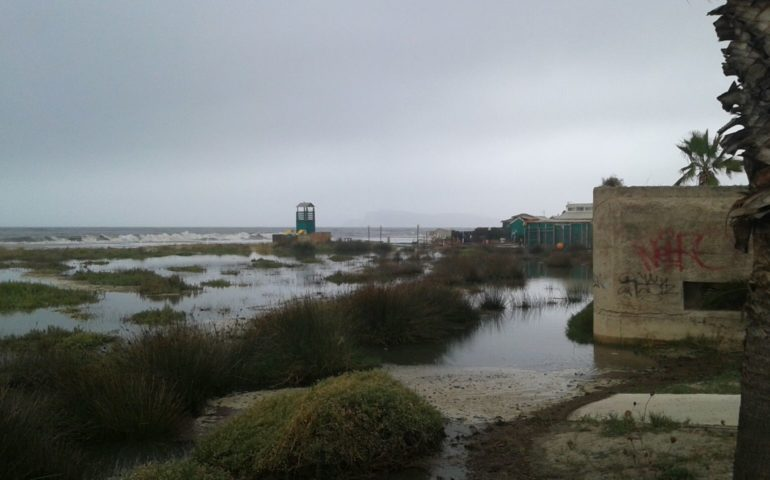 Poetto inondato: un video per raccontare il particolare evento climatico