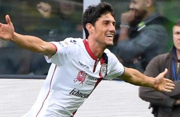 Federico Melchiorri dopo il gol in Inter-Cagliari
