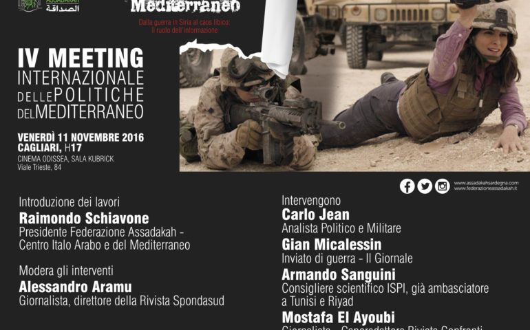 A Cagliari il IV° Meeting di Assadakah: il reporter Gian Micalessin racconta le guerre nel Mediterraneo