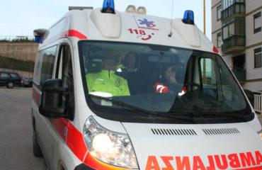 ambulanza ferito incidente al poetto quartu cagliari