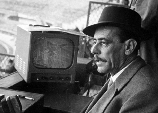 San Siro, 24 gennaio 1954. La tv italiana trasmette la prima partita di calcio