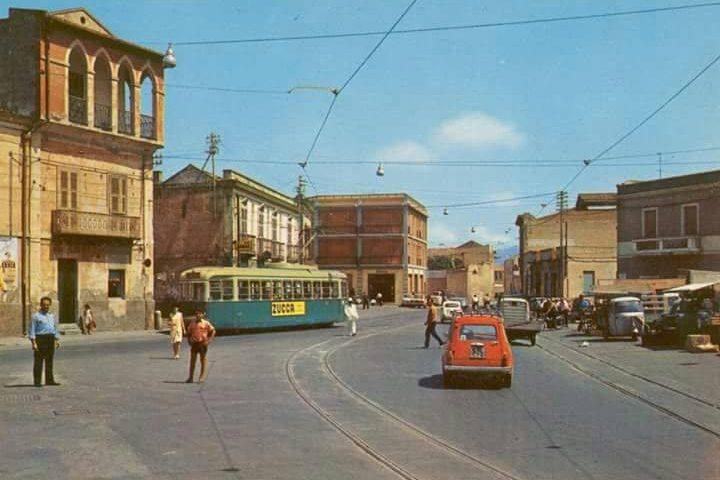 La Cagliari che non c'è più: Pirri, piazza Italia negli anni Sessanta