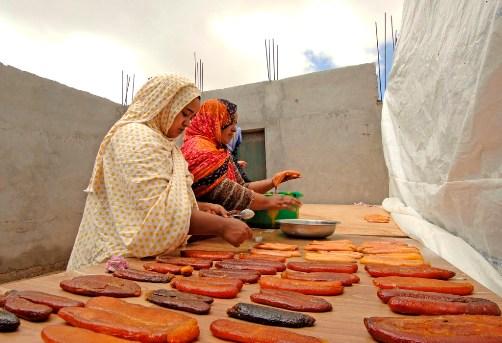 Bottarga lavorata in Mauritania