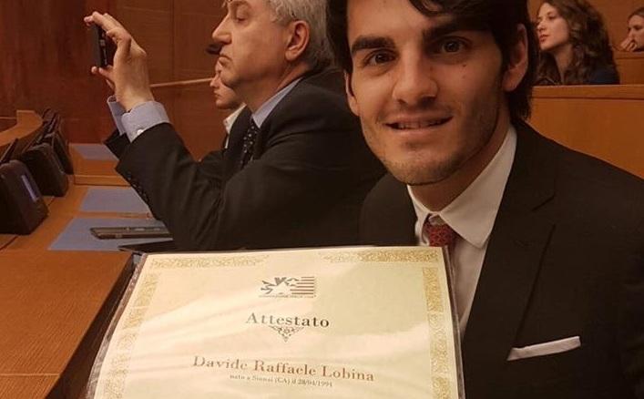 Davide lobina studente di sinnai premiato alla camera for In diretta dalla camera dei deputati