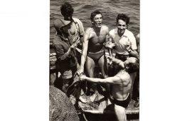 Quando Gigi Riva andava a pesca di polpi con gli amici nel golfo di Cagliari