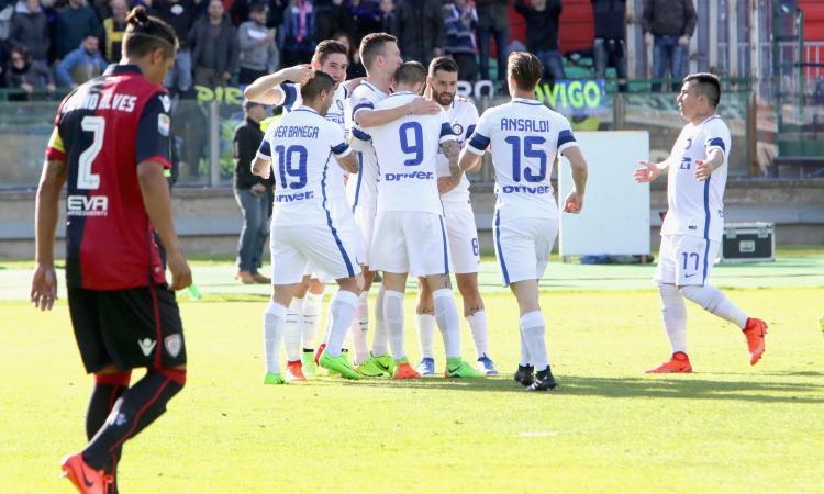 Cagliari inguardabile davanti ai suoi tifosi: l'Inter vince 5-1 dopo aver dominato quasi tutta la partita