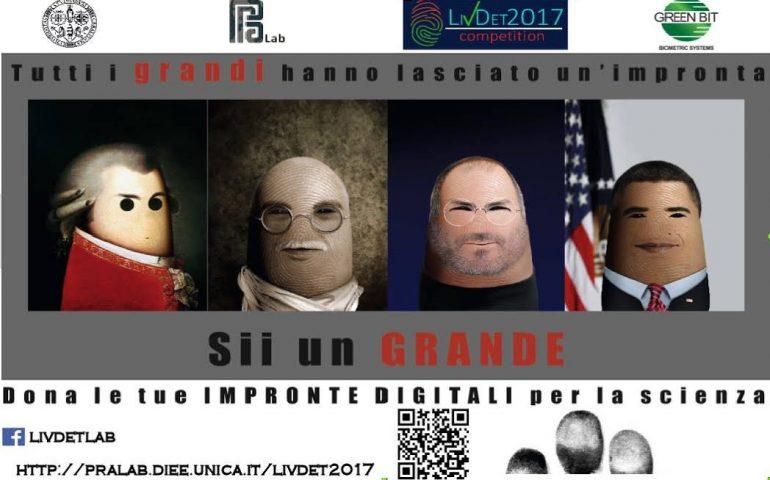 """Cercasi """"donatori"""" di impronte digitali: l'Università di Cagliari, nell'ambito di una ricerca, deve creare un database"""