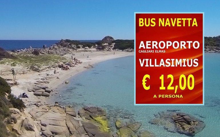 """Arriva la navetta """"Villasimius Express"""": dall'aeroporto di Cagliari al mare con soli 12 euro"""