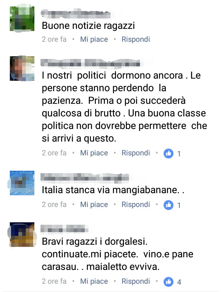 """6174a11b1ba50 I commenti sono stati pubblicati in coda alla notizia del grave fatto di  cronaca postata dalla pagina Fecebook """"Salvini Fan Club Sardegna"""""""