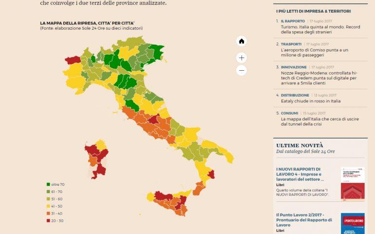 Dieci anni di crisi economica: la Sardegna non si rialza più. Cagliari, Sassari e Nuoro in fondo alla classifica de Il Sole 24 ore
