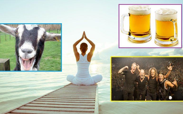 Birra, Capre e Rock'n'roll: trasgressione? No, è la nuova frontiera dello Yoga!