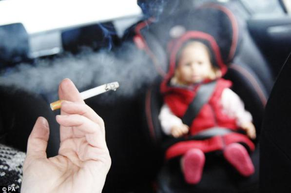 Fuma in auto in presenza del figlio 12enne: multa da 110 euro
