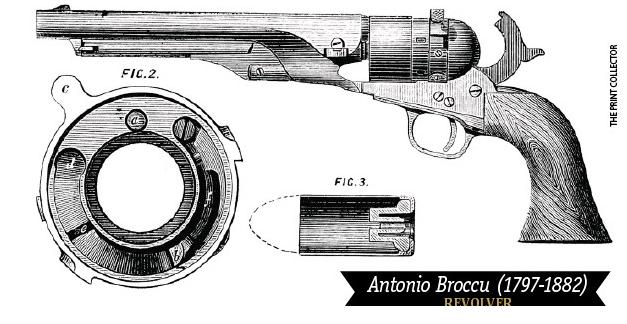 La pistola di Francesco natonio Broccu - Foto di The Print Collector