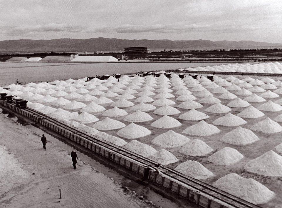 La Cagliari che non c'è più: una vecchia foto delle saline di Molentargius, dismesse nel 1984