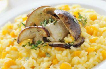 La ricetta Vistanet di oggi: risotto alla zucca e ai funghi porcini, un piatto semplice e buonissimo