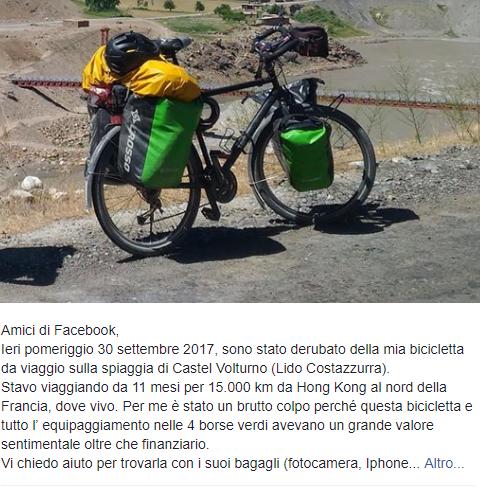 bici rubata giro del mondo.3