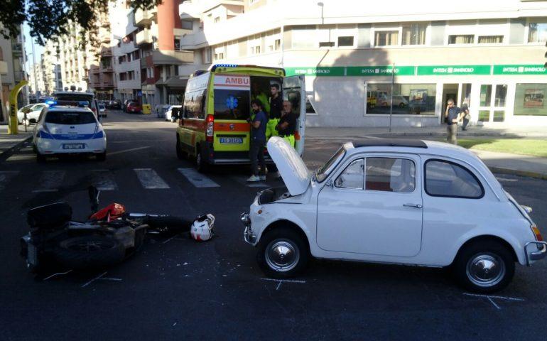 Cagliari: incidente tra una 500 e una Ducati. Centauro al pronto soccorso