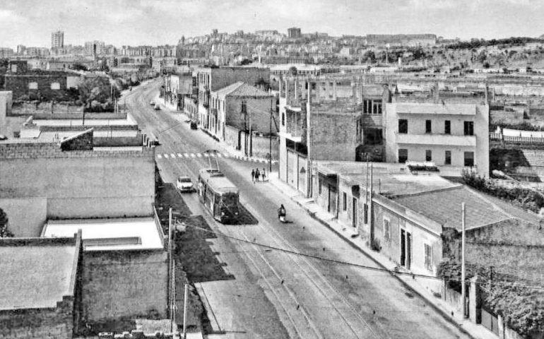 La Cagliari che non c'è più: Pirri, 1966, via Riva Villasanta, pochi palazzi e niente Asse Mediano