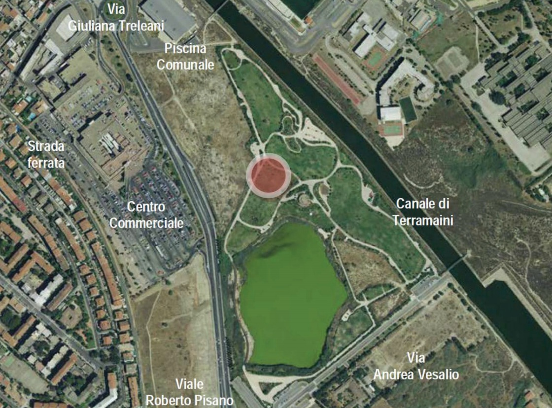 terramaini parco giochi inclusivo mappa
