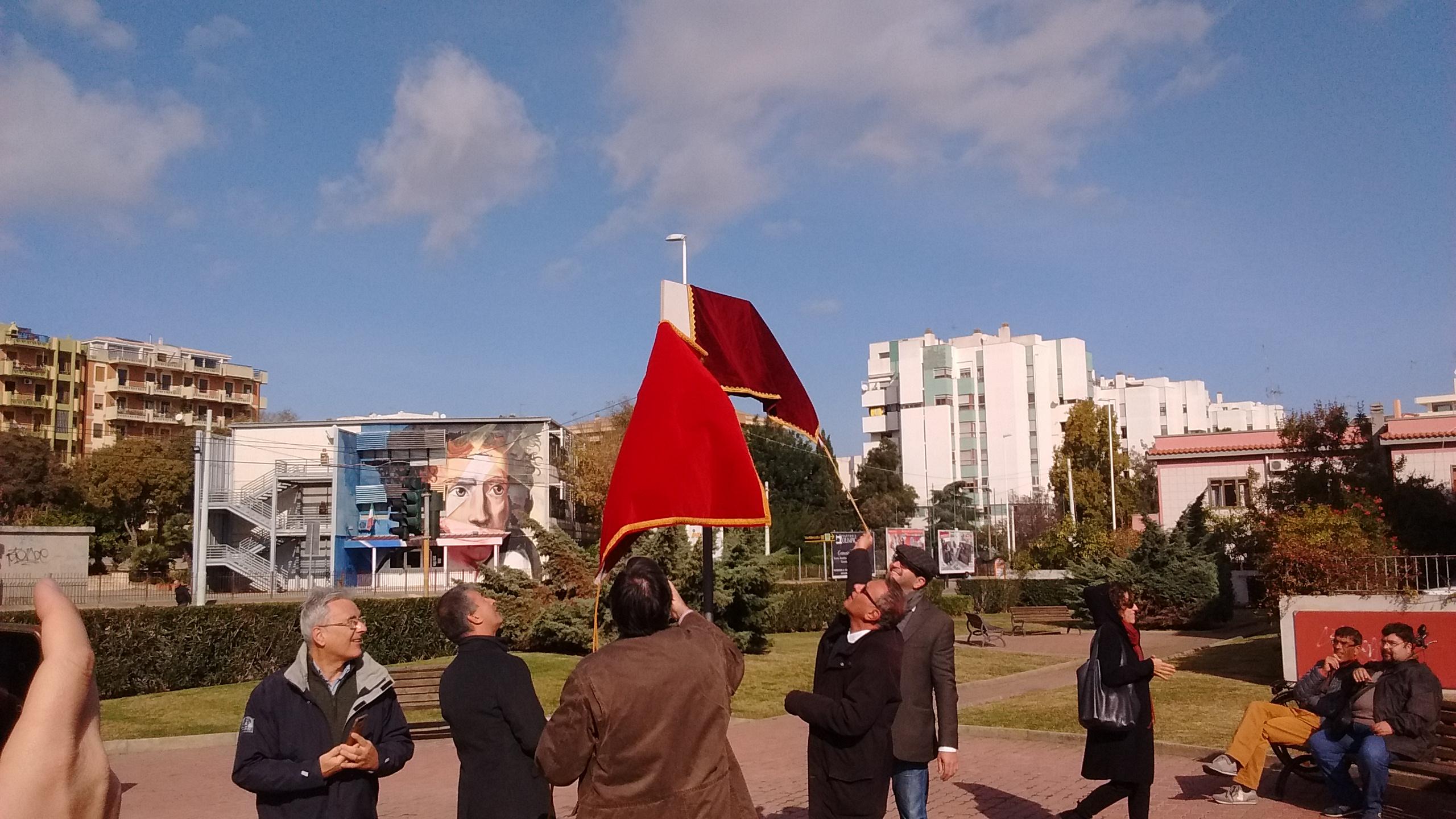 Cagliari: inaugurata piazza Aurelio Galeppini. Dalla sua matita nacque Tex Willer
