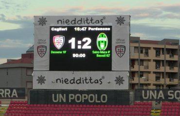 Il tabellone del match a fine partita - Foto Pordenone Calcio
