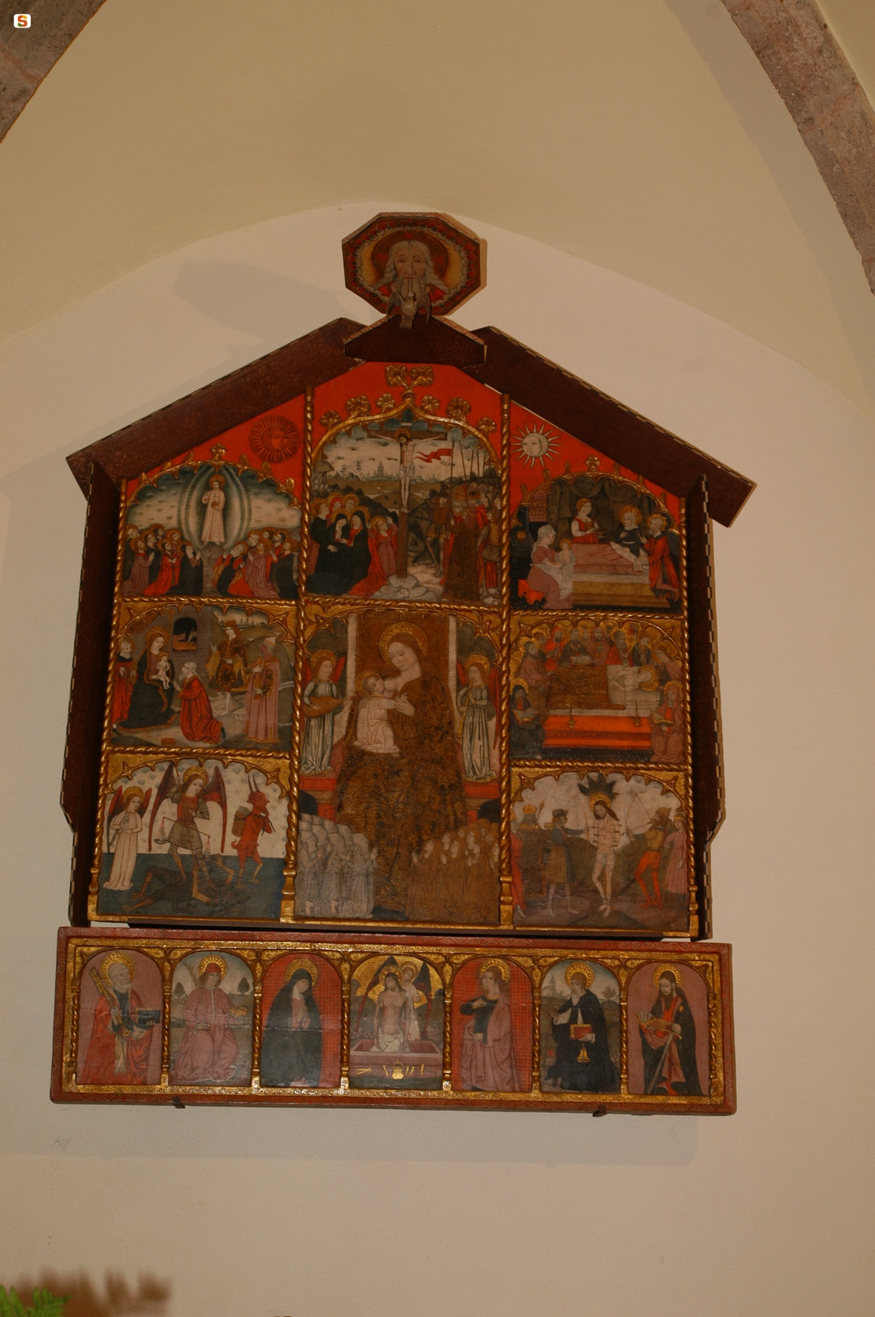 Olzai, Retablo della Pestilenza, chiesa Santa Barbara - Fonte www.sardegnaturismo.it