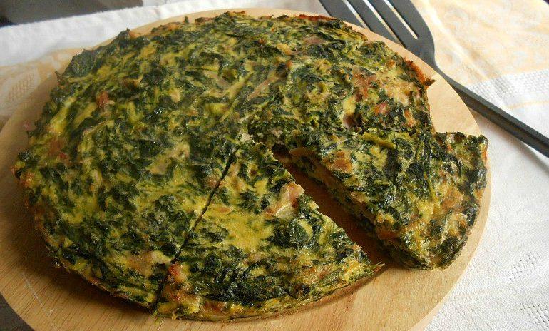 La ricetta Vistanet di oggi: frittata di bietole selvatiche, piatto veloce e molto gustoso