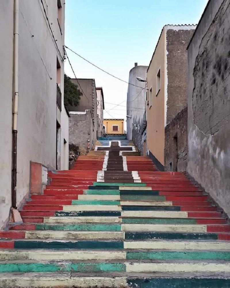 Orune, scalinata del perdono - Foto di Giulia Masala, Fonte FB