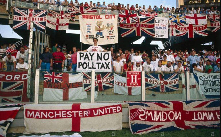 La Cagliari che non c'è più: Italia 1990, Gli hooligans inglesi si scatenano in Sardegna