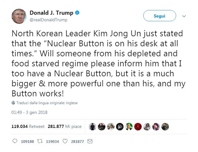 Donald Trump attacca Kim Jong-Un
