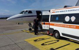 falcon aeronautica militare volo urgenza emergenza bambino cagliari