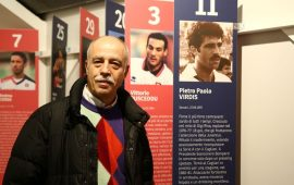 Il più grande attaccante sardo di sempre Pietro Paolo Virdis in visita al museo della Sardegna Arena