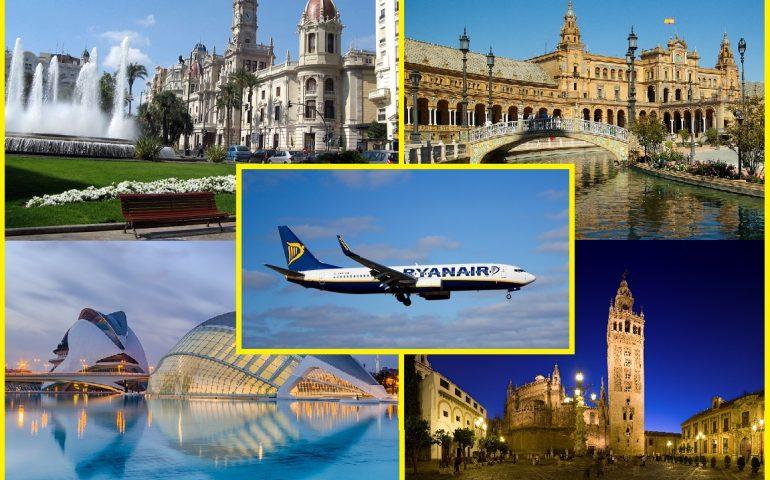 Cagliari di nuovo collegata con Valencia e Siviglia: Ryanair ripristina le tratte con le due città spagnole