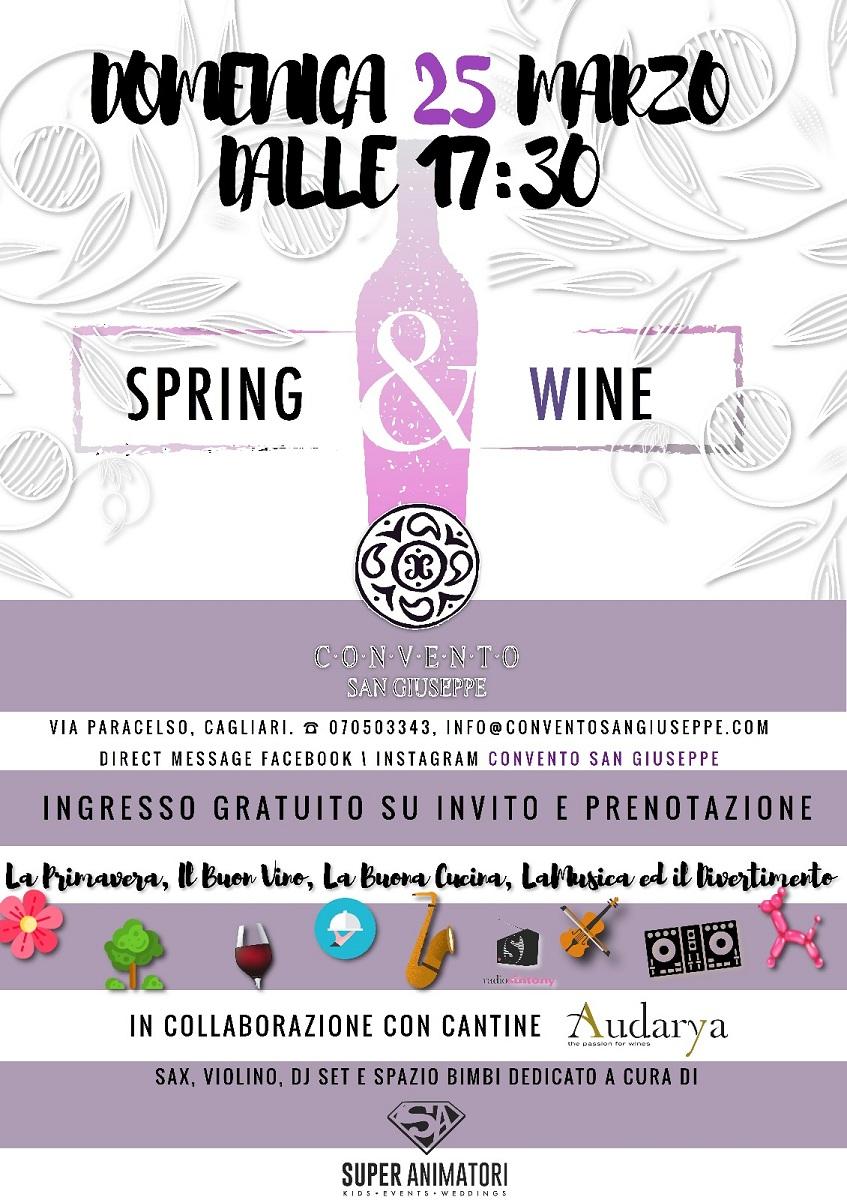 Spring and wine convento san giuseppe