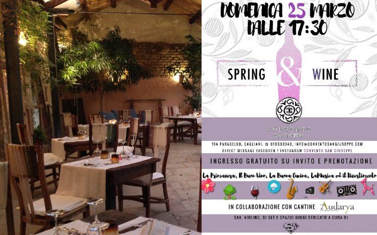 """""""Spring and wine"""", buon cibo, vino e divertimento: l'evento con ingresso gratuito al Convento San Giuseppe"""
