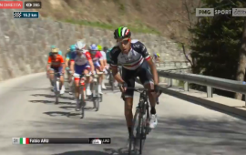 Fabio Aru scatta sulle rampe del Bannberg al Tour of the Alps
