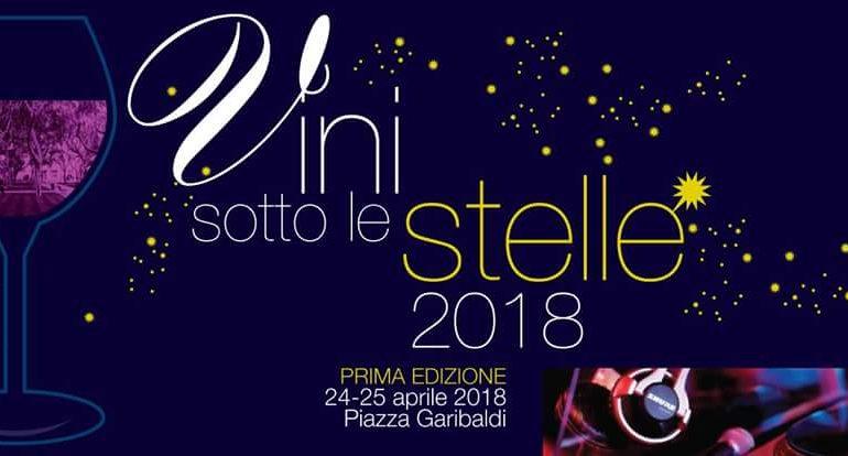 """Appuntamento con il gusto in piazza Garibaldi: al via la prima edizione di """"Vini sotto le Stelle"""""""