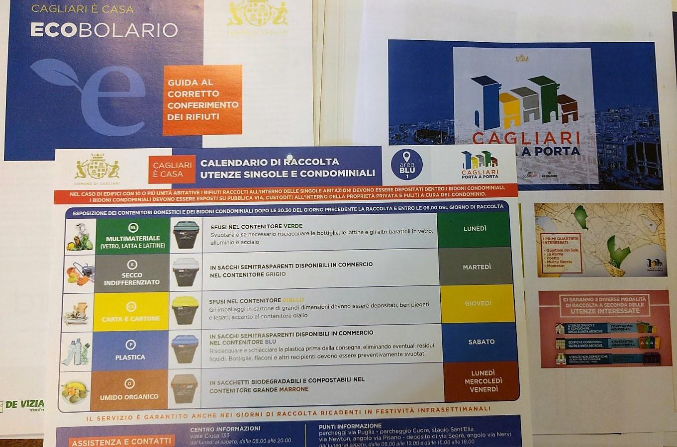 In Un Quartiere Di Una Citta Il Calendario Della Raccolta Differenziata.Cagliari Al Via Lunedi La Differenziata Porta A Porta