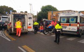Cagliari, incidente davanti all'Amsicora: moto e quadriciclo si scontrano e travolgono anziano