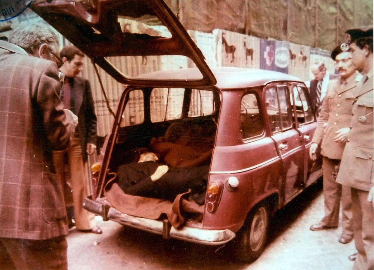 Il corpo di Aldo Moro in via Caetani