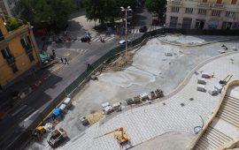 Piazza Costituzione. La nuova piazza prende forma