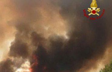 Incendio a Molentargius - Foto VVF