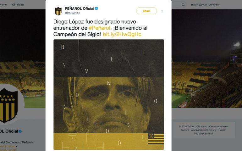 Diego Lopez ritorna in Uruguay: è il nuovo allenatore del Peñarol