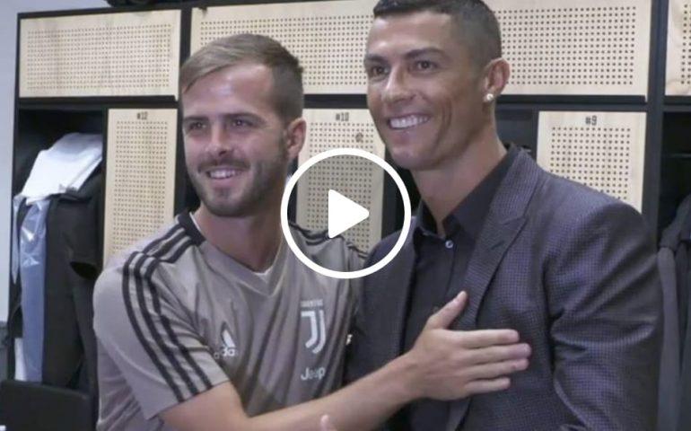 Video Le Prima Immagini Di Cristiano Ronaldo Alla Juventus