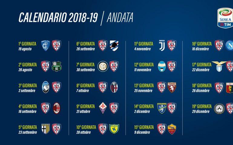 Calendario Serie A 16 Ottobre.Serie A Il 19 Agosto Il Calendario Dei Rossoblu Partira Da
