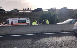 Gravissimo incidente sulla Carlo Felice all'altezza di Sestu: l'elicottero atterra sulla 131 (VIDEO)