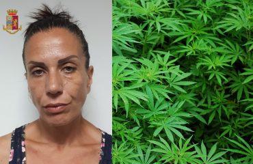 marijuana anna carrusci polizia arresto via magellano sant'elia